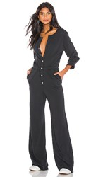 Spiritual Gangster Button Down Jumpsuit In Black. Vintage Black