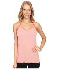 The North Face Better Than Naked Singlet Neon Peach Tnf White Women's Sleeveless Pink