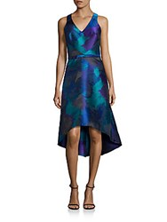 Theia Sleeveless Hi Lo Dress Turquoise
