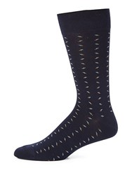Saks Fifth Avenue Collection Combed Cotton Blend Socks Navy