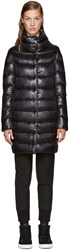 Herno Black Long Cocoon Jacket
