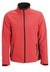 Icepeak Silver Soft Shell Jacket Coral Red Multicoloured