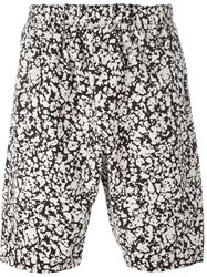 Christopher Kane Blotchy Print Shorts Black