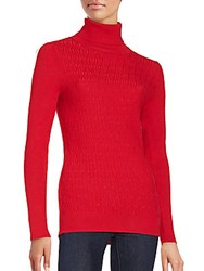 Calvin Klein Turtleneck Long Sleeve Top Rouge