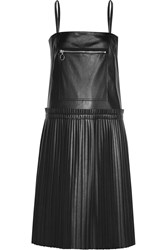Maison Martin Margiela Pleated Faux Leather Dress