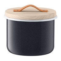 Lsa International Utility Container And Ash Lid Pepper Black