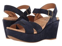 Kork Ease Ava 2.0 Navy Capitano Suede Wedge Shoes