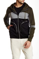 Shades Of Grey Neoprene Colorblock Hoodie Green