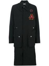 Givenchy Military Patch Jacket Women Polyamide Polyester 36 Black