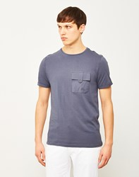 The Idle Man Button Pocket T Shirt Navy