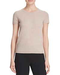 Bloomingdale's C By Short Sleeve Cashmere Sweater Wicker