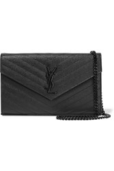 Saint Laurent Monogramme Mini Quilted Textured Leather Shoulder Bag