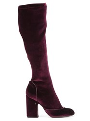 Laurence Dacade Pull On Knee Length Boots Pink Purple