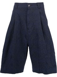 Song For The Mute Jacquard Bermuda Shorts Blue