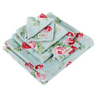 Cath Kidston Antique Rose Bouquet Towel Blue Guest Towel