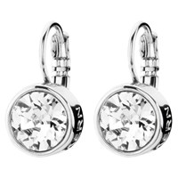 Dyrberg Kern Louise Crystal French Hook Drop Earrings Silver