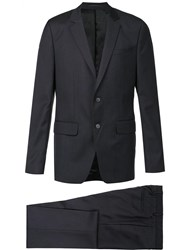Givenchy Two Piece Checked Suit Blue