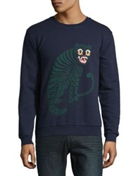 Paul And Joe Panther Cotton Sweatshirt Navy