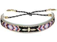 Rebecca Minkoff Sparkler Seed Bead Choker Black Multi Necklace