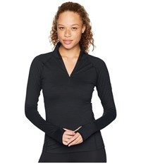 Spyder Unyte Zip T Neck Black Black Long Sleeve Pullover