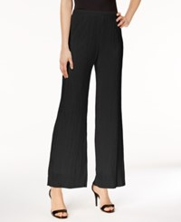 Msk Crinkled Wide Leg Pants Black