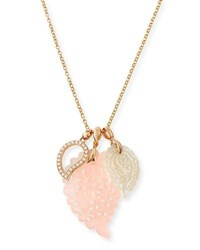 Tamara Comolli Paisley Charm Necklace With Diamonds In 18K Rose Gold Blush
