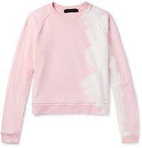 Haider Ackermann Twill Panelled Printed Cotton Jersey Sweatshirt Pink