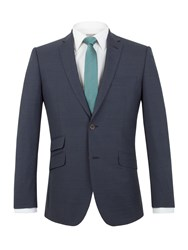 Racing Green Ward Puppytooth Tailored Jacket Navy