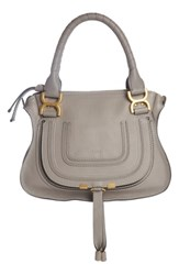 Chloe Marcie Small Double Carry Bag Grey Cashmere Grey