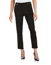 Calvin Klein Cropped Zip Accent Pants Black