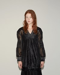 Sacai Organza Lace Top Black