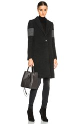 James Perse Limited Crombie Coat In Gray
