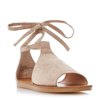 Head Over Heels Lizzie Ankle Tie Sandals Taupe
