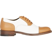 Sartore Bi Color Cap Toe Oxfords White