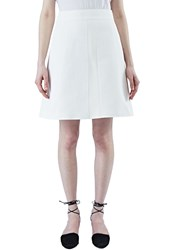 Proenza Schouler A Line Floral Jacquard Matelasse Skirt White