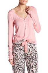 Kensie Such A Thrill Long Sleeve Shirt Pink