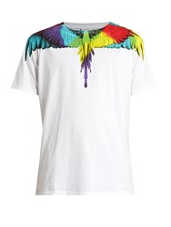 Marcelo Burlon Nicolas Cotton Jersey T Shirt White Multi