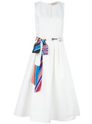 Emilio Pucci V Neck Dress White
