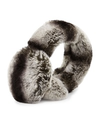 Surell Rex Rabbit Fur Earmuffs W Halo Band