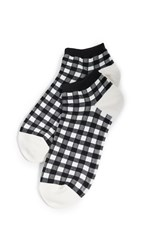 Madewell Gingham Play Anklet Socks True Black Multi