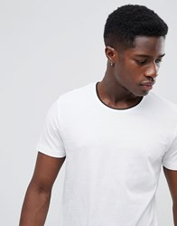 Selected Homme T Shirt With Contrast Neck Details Bright White