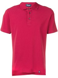Drumohr Basic Polo Shirt Red
