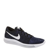 Nike Lunarepic Low Flyknit Running Trainers Female Navy