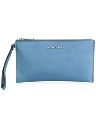 Michael Michael Kors Large Jet Set Travel Clutch Blue