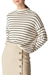 Whistles Fine Stripe Relaxed Sweater Multicolor