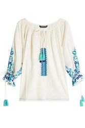 Kas Embroidered Cotton Blouse Gr. M