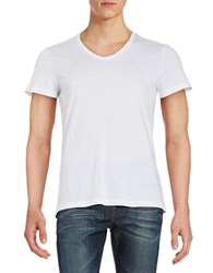 Strellson V Neck Cotton Tee White