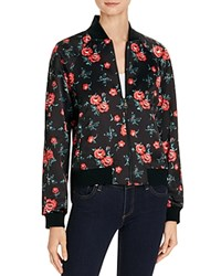 Joe's Jeans The Elsie Floral Printed Bomber Jacket Rose Print