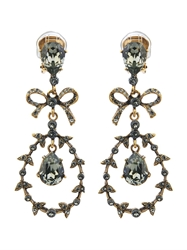 Oscar De La Renta Bow Crystal Drop Earrings