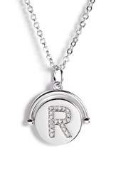 Lulu Dk Women's Love Letters Initial Spinning Pendant Necklace Silver R